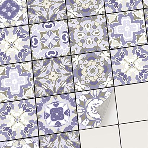 creatisto Mosaikfliesen Fliesenaufkleber Fliesenfolie - Hochwertige Sticker Aufkleber für Wandfliesen I Klebefliesen Deko Folien für Fliesen Ornament in Bad u. Küche (15x15 cm I 9 -Teilig)