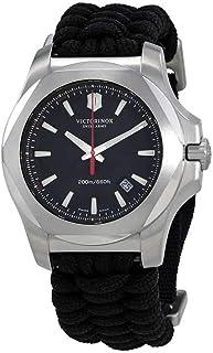 ساعة فيكترونيكس ستانلس ستيل سويسرية للرجال بسوار من النايلون، لون اسود، 21 (241726)