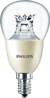 Philips Master - Luz blanca cálida DimTone, vidrio, transparente, pack de 1, E14