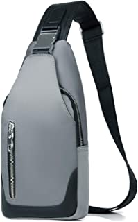FANDARE Neu Brusttasche Herren Schultertasche Sling Bag Rucksack mit USB Umhängetasche Sporttasche für Wandern,Abenteuer,Sport, Reisen und Joggen