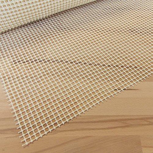 Antirutschmatte Beige 65x370 cm · Breite 65 cm x Länge wählbar - Teppichunterlage zuschneidbar, rutschfest