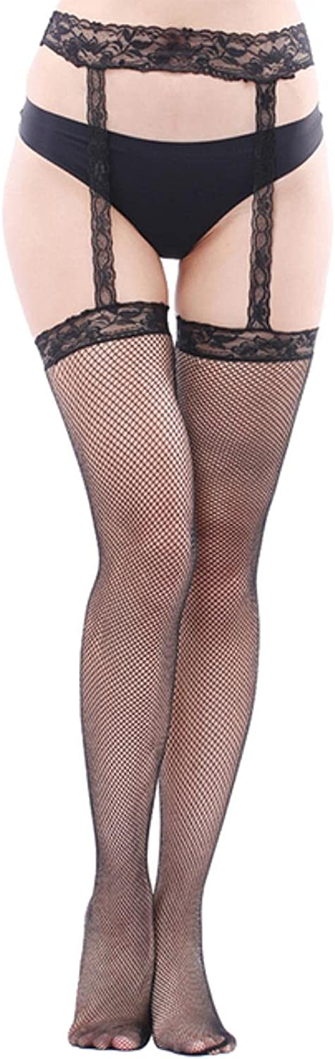 Lady Fashion Women Stylist Lace Tights Thigh High Over Knee Long Stockings + Suspender Garter Belt Nightclubs Pantyhose