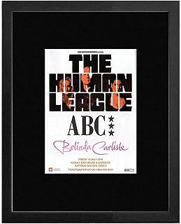 The Human League ABC Belinda Carlisle - Audley End House & Gardens July 2019 Framed Mini Poster - 28.5x23.5cm