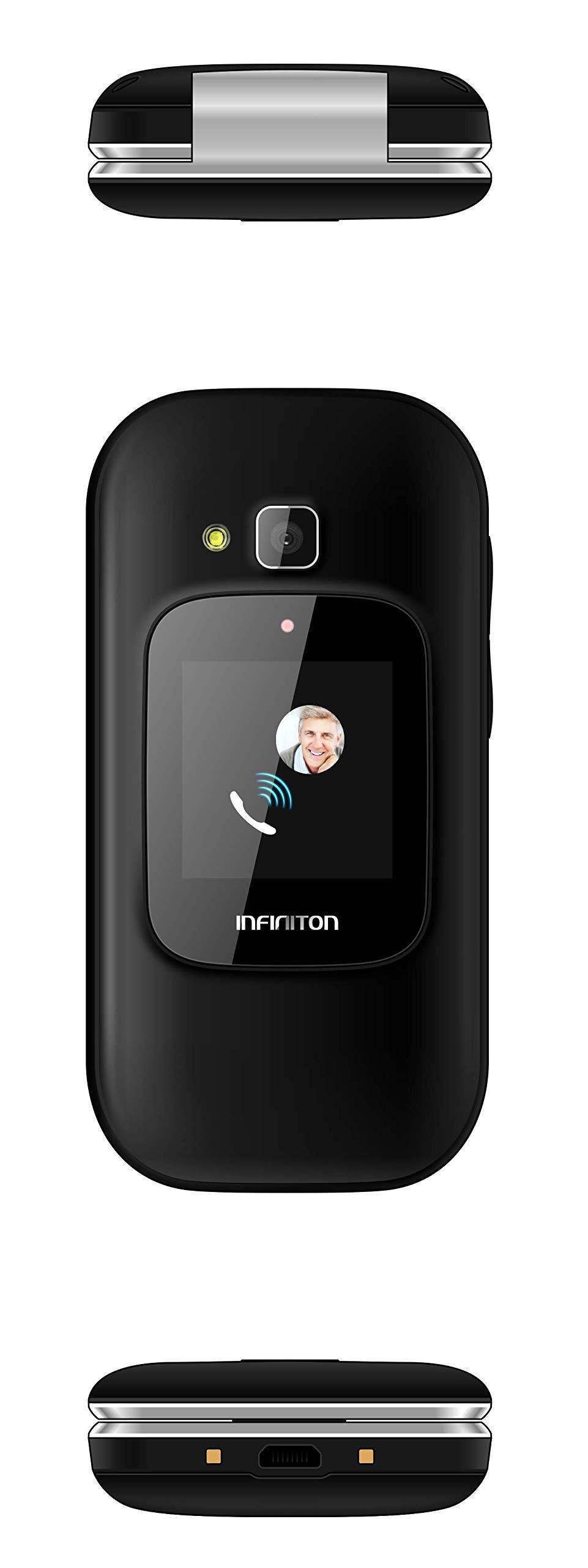 TELEFONO MOVIL INFINITON U1 con Tapa y Teclas Grandes para Mayores ...