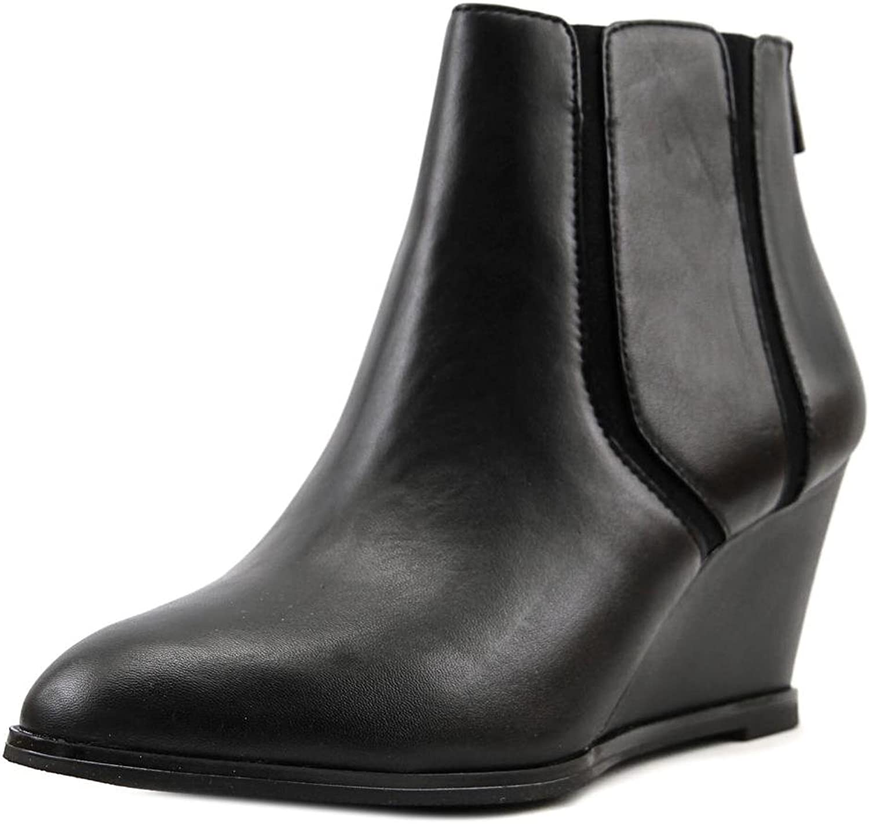 Alfani Womens Calistah Leather Closed Toe Ankle Fashion Boots, Black, Size 8.5
