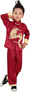 Traditional Chinese Boy Dragon Kung Fu Outfit Tang Costume