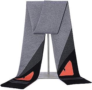Scarves for men Mens Scarf Mens Long Cashmere Scarf Winter Fashion Formal Soft Cashmere Scarves For Men Scarf (Color : Ora...