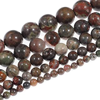 Natural Stone Beads 8mm Rainforest Agate Beads Gemstone Round Loose Beads Crystal Energy Stone Healing Power for Jewelry Making DIY,1 Strand 15