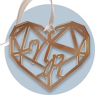 FAMA 5 Cartellini tag in plexiglass oro rosa per bomboniere matrimonio personalizzabili con incisione al laser