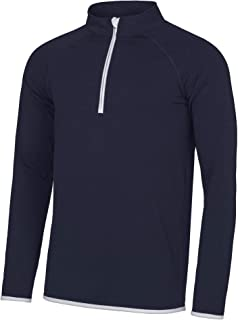 Personalised Custom Your Text Design Logo AWDis AWD is Cool JC031 ½ Zip Sweatshirt