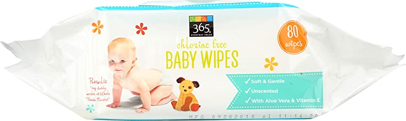 365 Everyday Value, Baby Wipes Refill Size, 80 ct