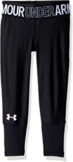 Under Armour Heatgear Armour Novelty Ankle Crop,  Black//White,  Youth