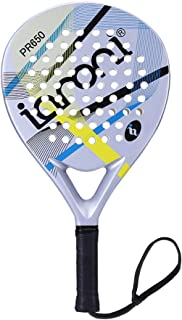 ianoni Tennis Padel Beach Racket Tennis Paddle with Carbon Fiber Face and EVA Memory Foam Core