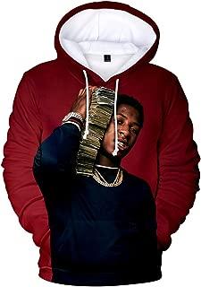 YoungBoy Never Broke Again Unisex Hoodie 3D Printed Hooded Pullover Sweatshirt for Men Women Boys Girls
