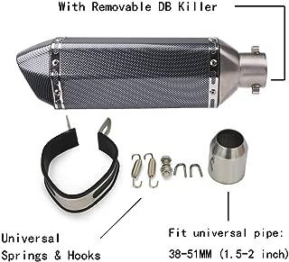 Exhaust Muffler Carbon Fiber 1.5-2