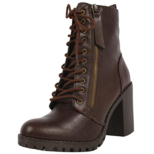 14c8428f6f735 Brown Lace Up Ankle Boots: Amazon.com