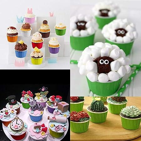 Argent AIMEITE Caissette Cupcake,50pcs Moule a Cupcake Papier Muffin Moule Cuisson Cupcake Emballage Gateau Patisserie Caissette Muffins