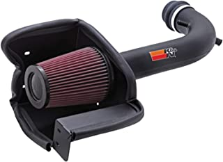 K&N Cold Air Intake Kit with Washable Air Filter:  2000-2008 Honda S2000, 2.0L and 2.2L L4,  Black HDPE Tube with Red Oiled Filter, 57-3514