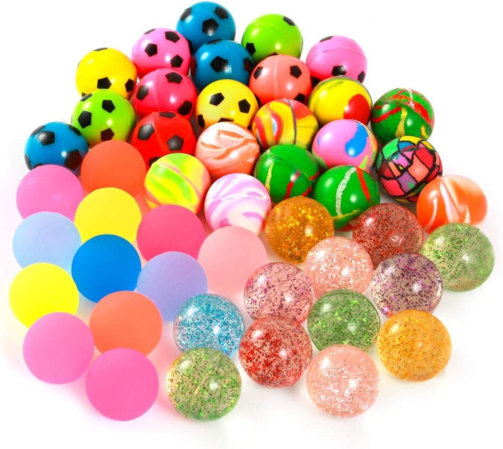 Pllieay 48 Pieces 4 overseas Style25mm Include Set 2021 Balls Bulk Bouncy