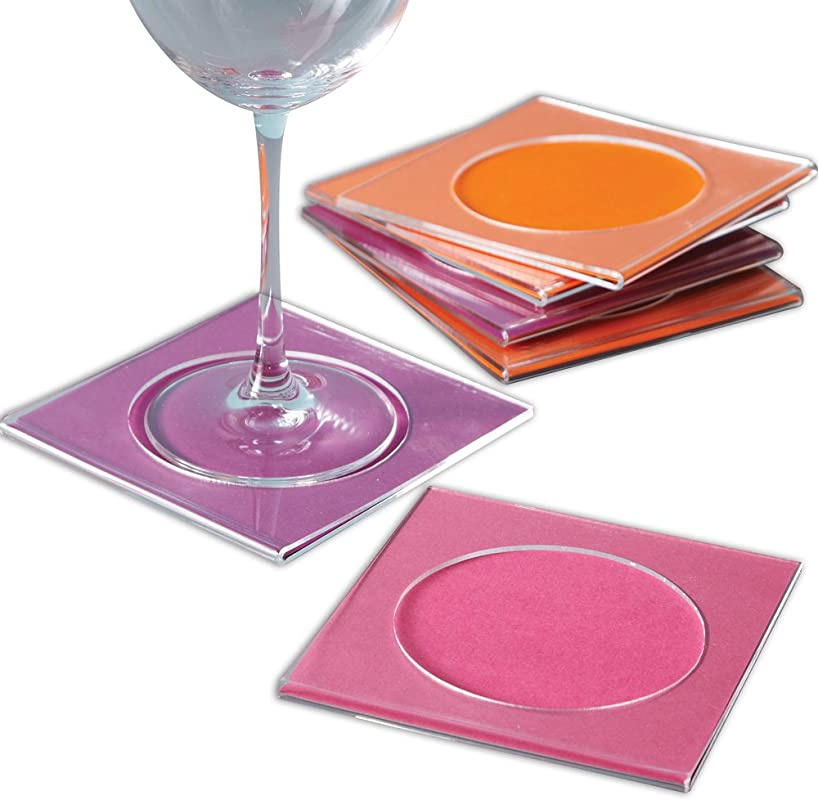 Two S Company High N Dry Acrylic Cocktail Napkin Coasters Set Of 6