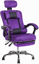 YLLN Mesh High Back Swivel Office Chair Home Swivel Chair Wide Angle Reclining Mobile Double Pillow Retractable footrest B...