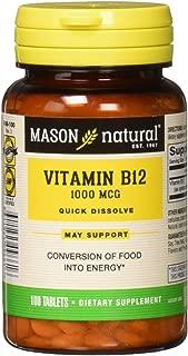 Mason Natural Vitamin B-12 1000mcg Sublingual Tablets - 100 Ea