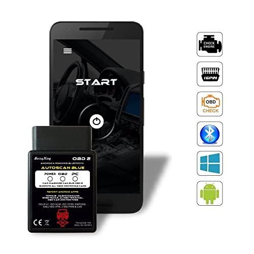 BerryKing Autoscan Bluetooth OBD2 Diagnosegerät Torque Auto Car PKW KFZ OBD 2 Smartphone Tablet Android PC Windows Diagnose CAN BUS Interface