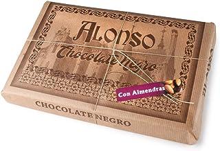 ALONSO - Chocolate NEGRO con ALMENDRAS - Tableta XXL 900 grs