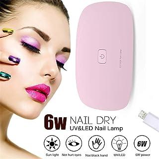 XIRUI Mini Lámpara De Uñas USB UV Led Secador De Uñas con 2 Ajustes De Sincronización 45s / 60s para Esmaltes A Base De Gel