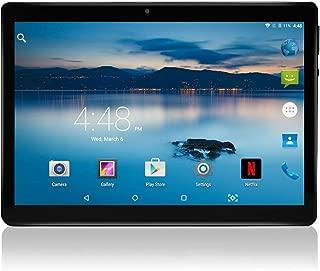 10インチのAndroidタブレットロック解除パッド付きデュアルSIMカードスロット10.1インチIPSスクリーン2GB RAM 32GB ROM 3G Phablet内蔵Bluetooth WiFi GPSタブレット (黑)