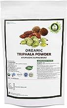 R V Essential Organic Triphala Powder 100gm/ 3.53oz/ 0.22lb- Made from Haritaki, Vibhitaki and Amla 1:1:1 Triphala Churna Powder USDA Organic Certified Ayurvedic Herbal Supplement in Zip Lock Pouch