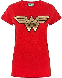 Official Wonder Woman Foil Women's T-Shirt (XXX-Large) Red