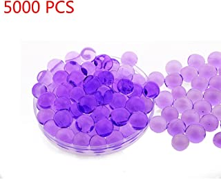 Candora 5000pcs Water Beads Crystals Mud Crystal Water Gel Beads Soil Beads Crystal Soil Plant Flower Jelly Crystal Soil Mud Water Pearls Gel Beads Balls for Kids Vases (Purple)