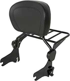 TJMOTO Black Detachable Backrest Sissy Bar for 1997-2008 Harley Touring Electra Glide Road Glide Road King Street Glide