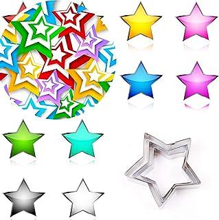 Makwes 3 Piezas 5 Puntas Estrella Pastel Molde Bricolaje Galleta Fondant Galleta Prensa Cortador Hornear Herramienta