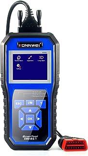 Romacci Leitor de código do scanner KW450 OBDII Leitor de falha do motor Apagar/redefinir códigos de falha Substituição do...