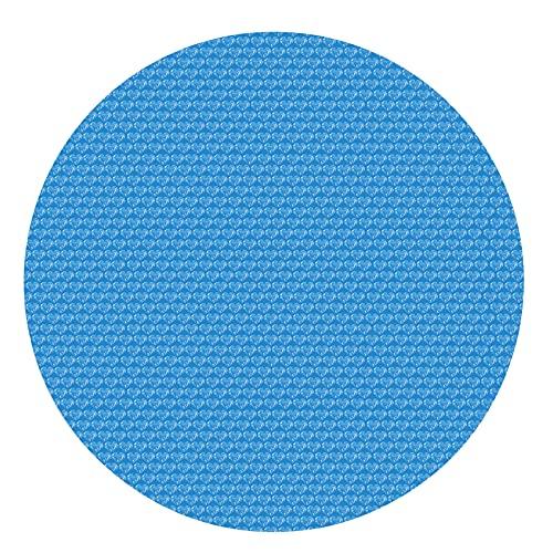 xueren Cubierta solar de la piscina, aislamiento térmico durable de la piscina película de la burbuja a prueba de polvo, cubierta de la piscina a prueba de lluvia para piscinas redondas sobre el suelo