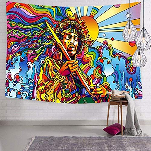 henghuidashi Wandteppich Woodstock 1969 Tapestry Tapestry Wall Hanging Wall Decoration 3D Printing Living Room Bedroom Art Bed Cover Tablecloth Curtain Light Design