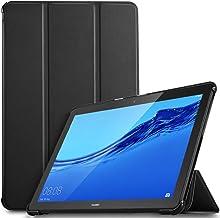 IVSO Funda Carcasa para Huawei MediaPad T5 10, Slim PU Protectora Carcasa Cover para Huawei MediaPad T5 10 10.1 Pulgadas 2018, Negro
