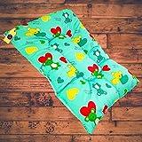 Aayat Kids ® Baby Mattress Cotton Printed Baby Other Toddler Bedding Mattress/BabyBeddingMat/Bedding/SleepingMat/BabyBed(L-33 Inch, W-19 Inch)(Upto 12 Months,Green)