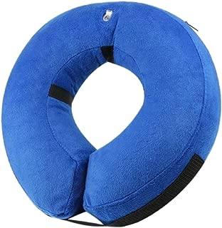 エリザベスカラー 保護襟 首輪 犬 猫 介護ケア 調節可能 ペット 簡単保管 - ブルー - M, 記載通り