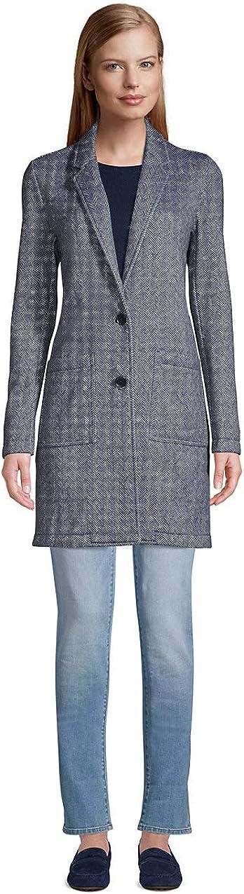 Lands' End Women's Sweater Fleece Long Blazer Coat