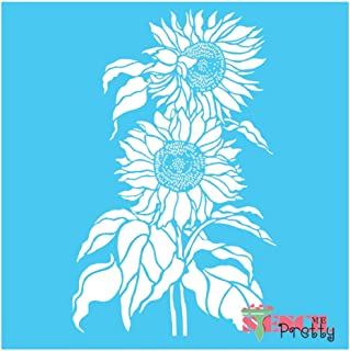 Standard Brilliant Blue Color Material Sunflower Duo - DIY Craft Stencil-XS (7.5