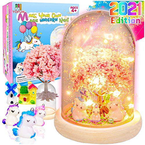 YOFUN Make Your Own Unicorn Night Light - Unicorn Craft Kit for Kids, Arts and Crafts Nightlight...