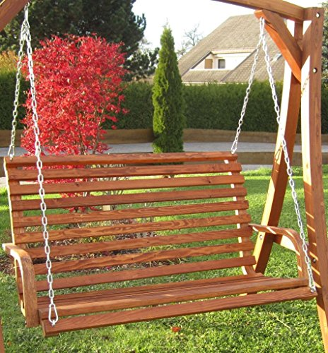 ASS Design Bank aus Holz Lärche für Hollywoodschaukel 2-Sitzer KUREDO (ohne Gestell!!!) von - 4