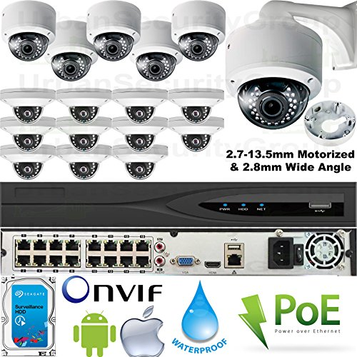 Best Price USG Business Grade 17 Camera HD Security System : 1x Ultra 4K 32 Channel Security NVR + 1...
