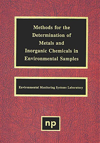 Methods for the Determination of Metals in Environmental Samples (English Edition)
