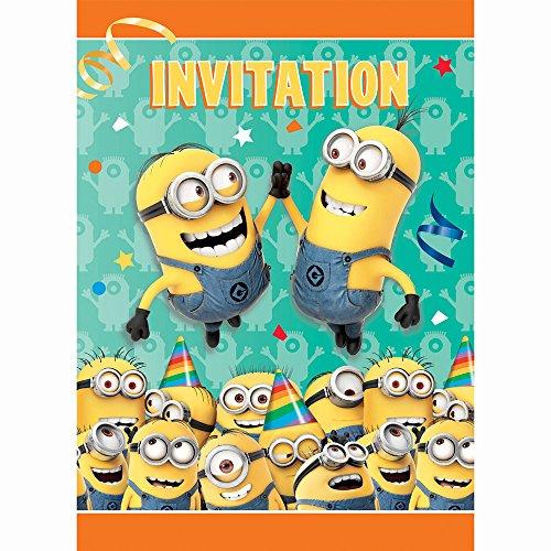 Generique - 8 Minions Einladungskarten