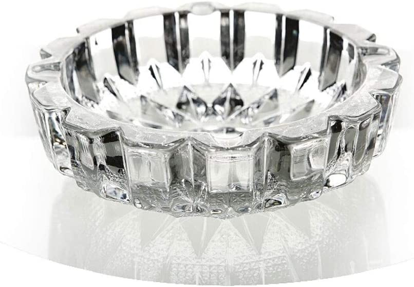 Limited price Beauty products sale zlw-shop Cigarette Cigar Ashtray Round Large Livin Glass