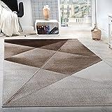 Paco Home Tappeto di Design Moderno Motivo Geometrico Corto...